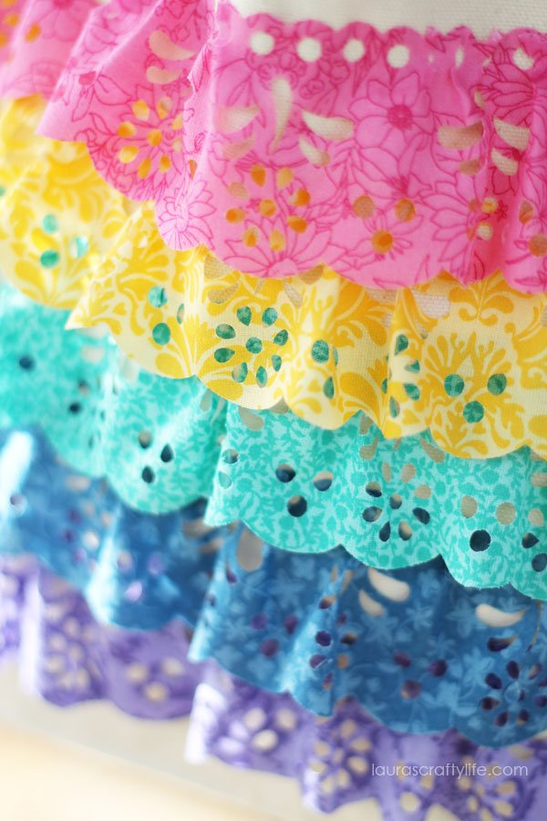 Close up of lace cut with the Cricut Explore