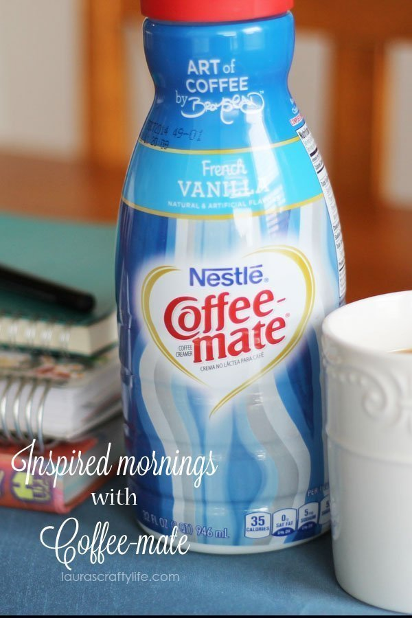 Inspired mornings with Coffee-mate (Laura's Crafty Life) #CMInspires #CGC