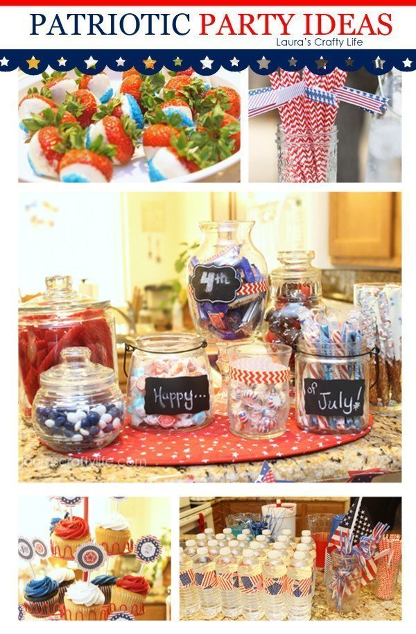 Patriotic Party Ideas by Laura's Crafty Life