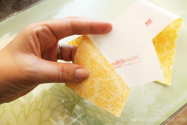 Peel off paper backing from Heat'n Bond