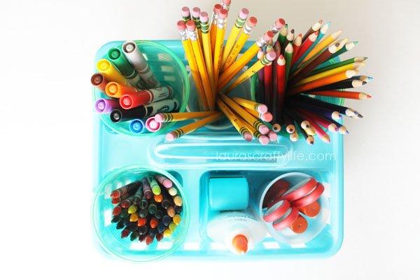 Supplies for Elementary School Homework Caddy