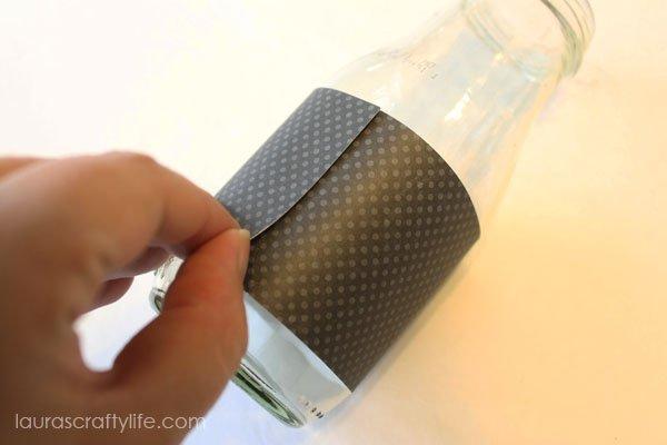Attach bottle wrap to bottle