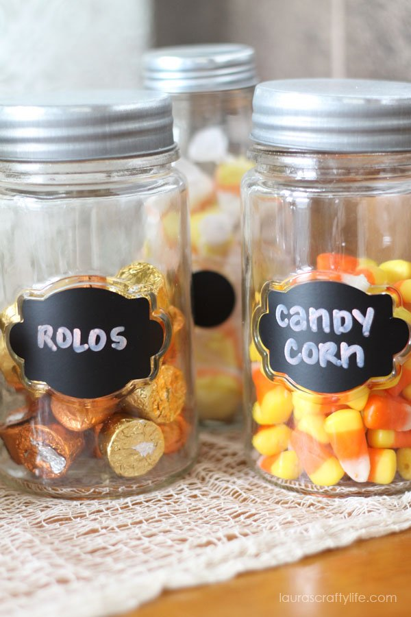 Candy for Halloween Soiree in Target jars