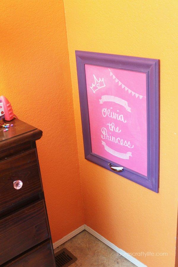 Chalkboard in O's room