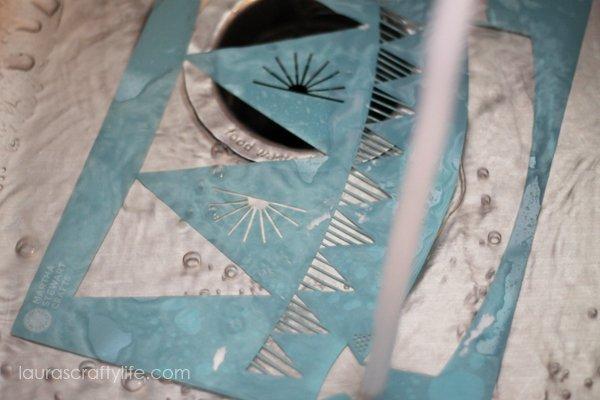 Clean Martha Stewart Crafts stencil with water