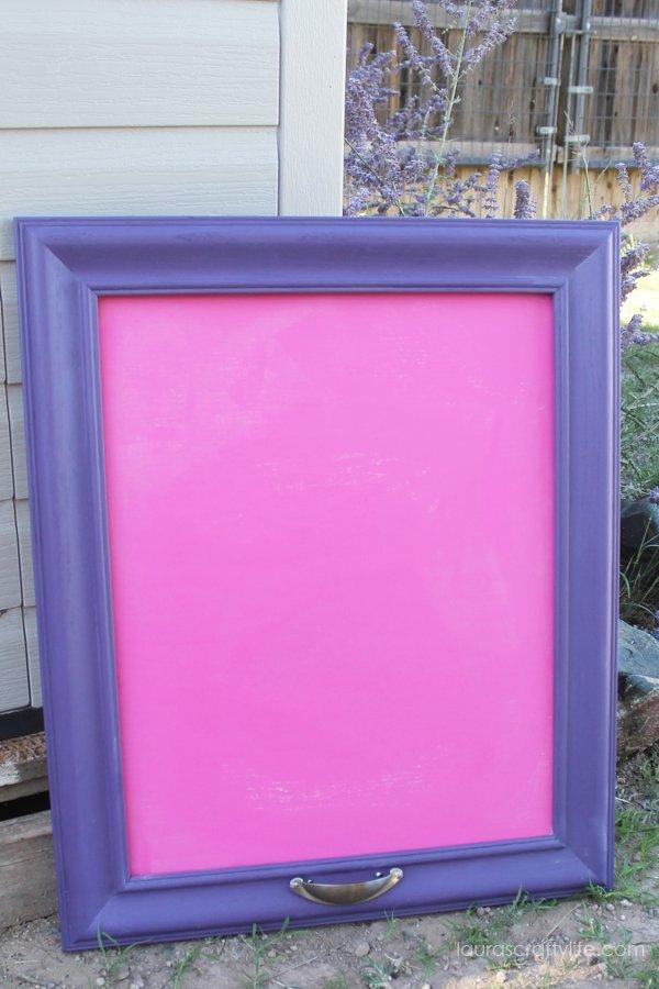 DIY Chalkboard by Laura's Crafty Life