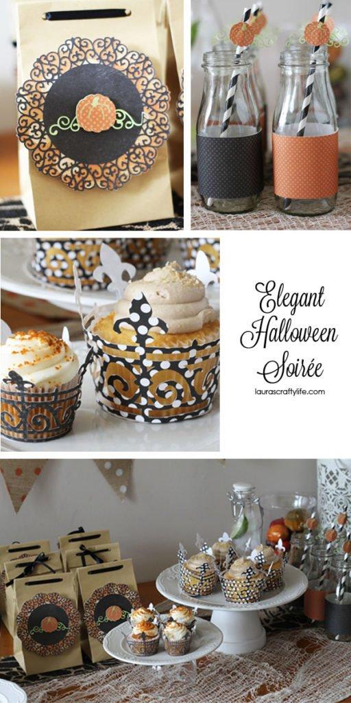 Elegant Halloween Soirée made with Cricut Explore via Laura's Crafty Life