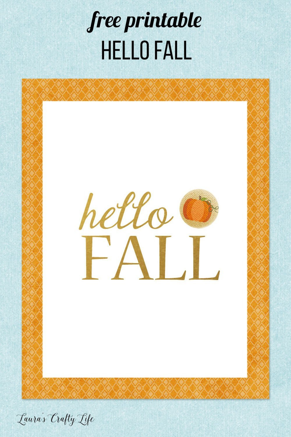 free printable art hello fall