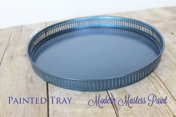 Painted Tray with Modern Masters Paint by Laura's Crafty Life