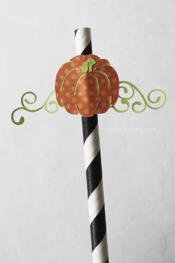 Pumpkin straw for Halloween Soiree