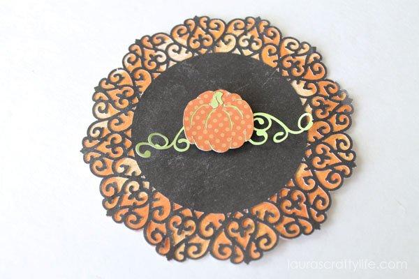 Pumpkin treat bag decoration