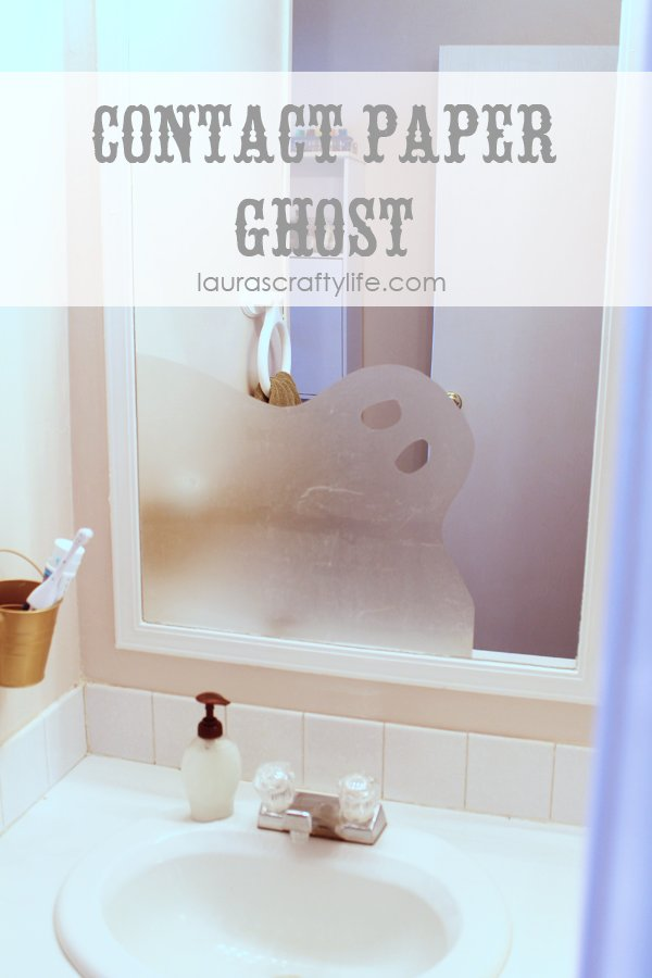 Contact Paper Ghost by Laura's Crafty Life