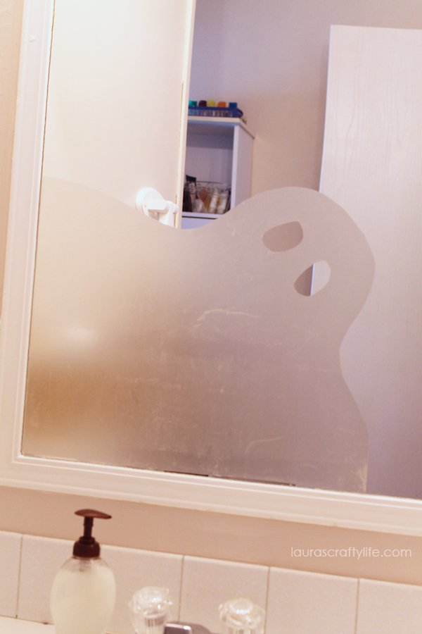 Create a ghost silhouette from contact paper