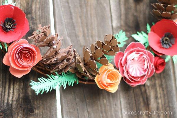 Cricut 3D Floral Home Decor pine cone