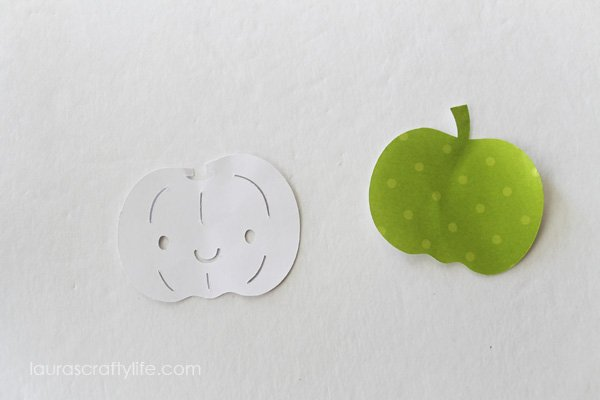 Cut out pumpkin shapes using Cricut Explore