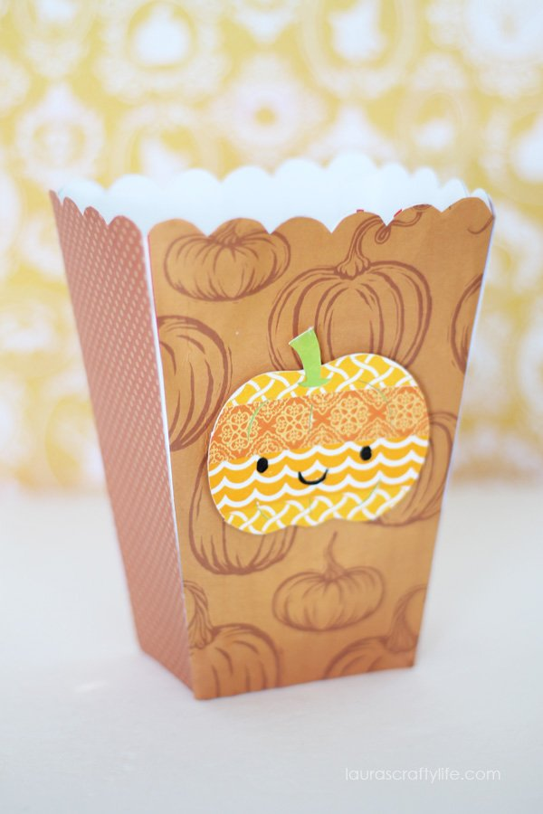 Decorated Halloween Pumpkin Box