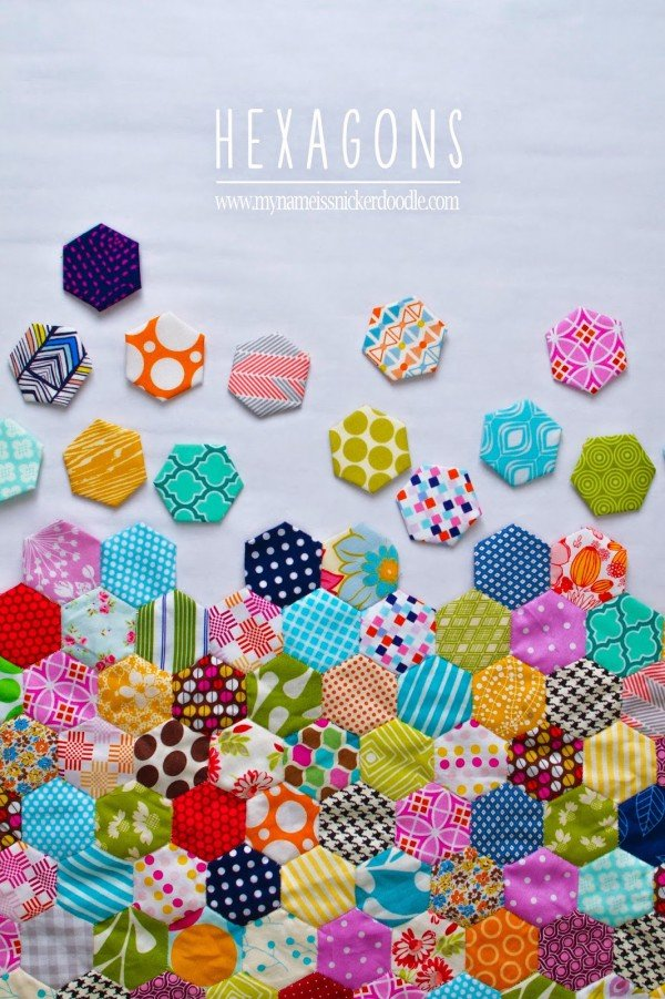Hand-Sewn-Hexagon-Fabric-Quilt copy