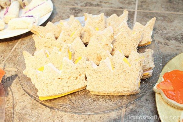 Princess crown sandwiches