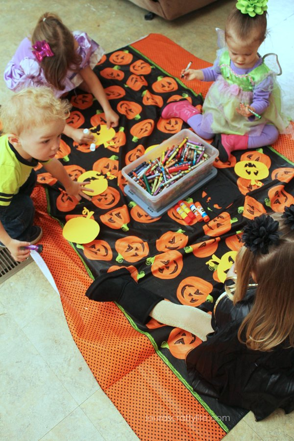 Pumpkin face craft