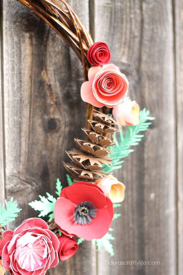 Rustic Fall Paper Wreath