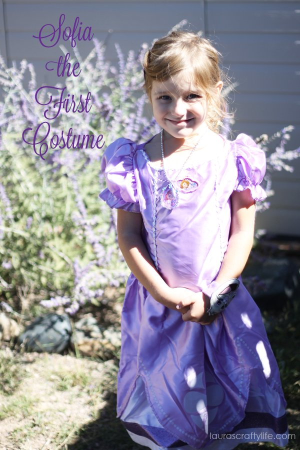 Sofia the First costume from Walmart #JuniorCelebrates #CollectiveBias #shop