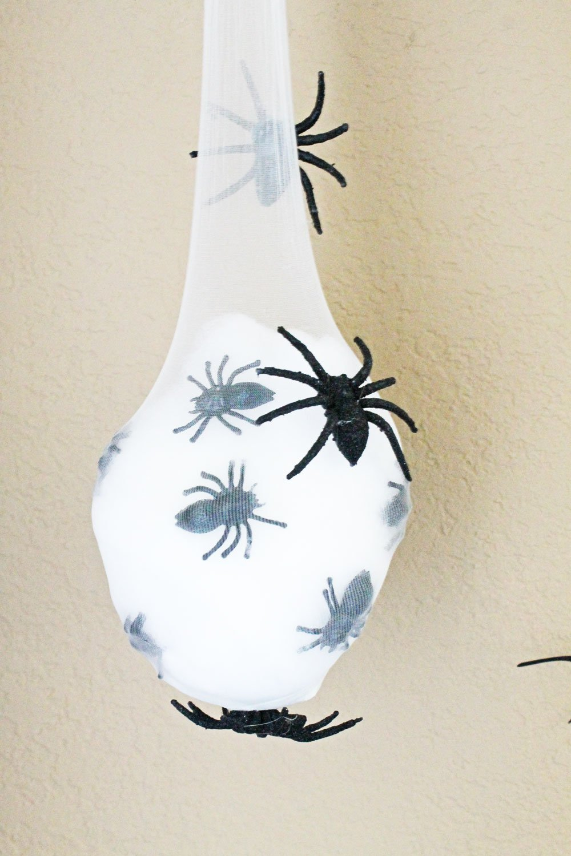 Spider egg sac decoration
