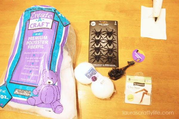 Supplies needed to make spider web