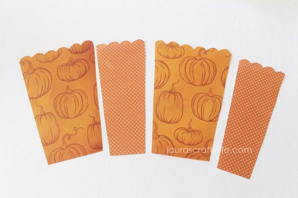 Trace and cut out patterned paper