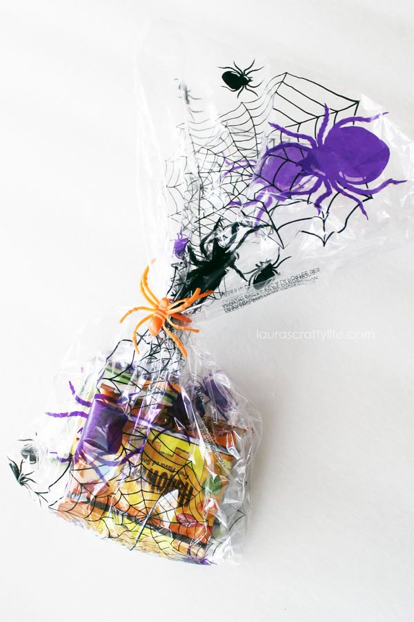 Treat bags for Halloween Birthday Party