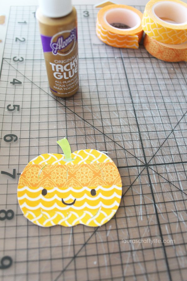 Use Aleene's tacky glue to glue pumpkin shapes together