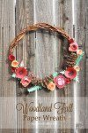 Woodland Fall Paper Wreath by Laura's Crafty Life #CricutExplore #CricutDesignSpace