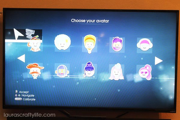Choose avatar for dancer on Just Dance 2015