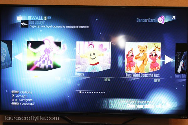 Choosing a song on Just Dance 2015