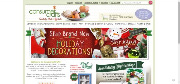 ConsumerCrafts.com home page
