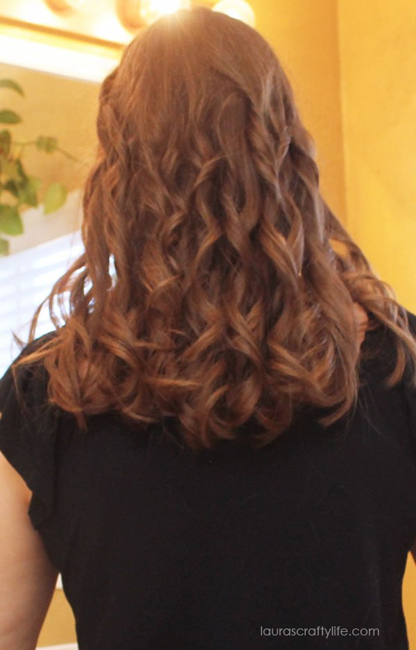 Curled hair with the  Infiniti Pro by Conair® Curl Secret®