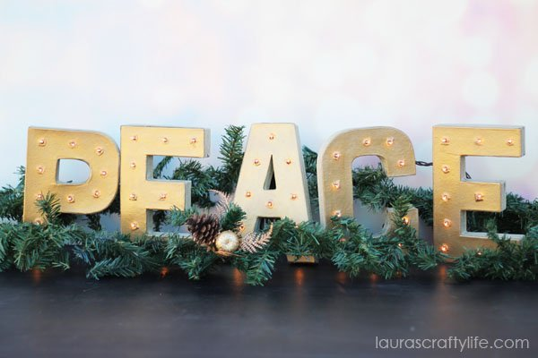 DIY Marquee Letters - laurascraftylife