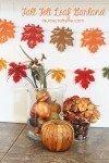 Easy Fall Felt Leaf Garland - Laura's Crafty Life