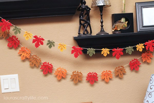 Easy Fall Felt Leaf Garland
