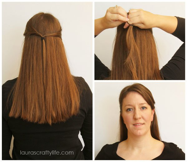 Easy Straight Hair Style - Laura's Crafty Life