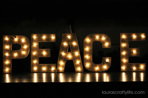 How to create Lighted DIY Marquee Letters