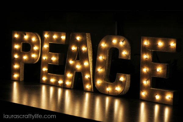 Lighted Up DIY Marquee Letters