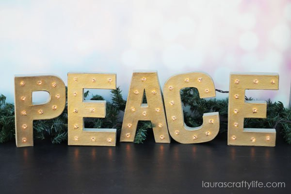Make your own marquee letters using supplies from Consumer Crafts