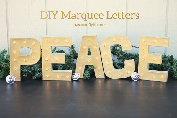 Peace DIY Marquee Letters