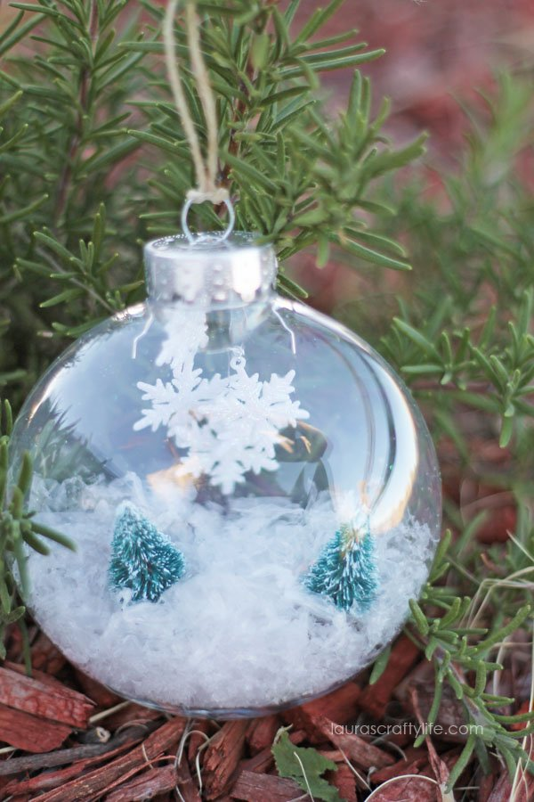 Snowflake and Christmas Tree Ornament
