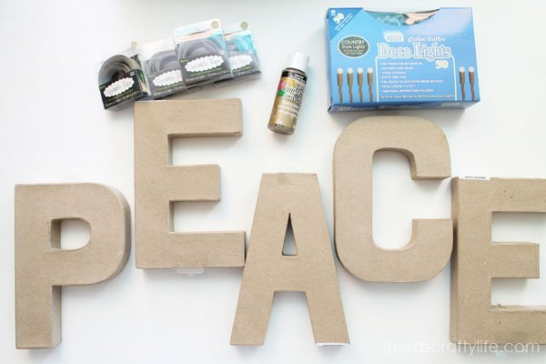 Supplies for DIY Marquee Letters from Consumer Crafts