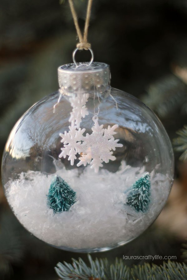 Winter Wonderland Handmade Ornament Lauras Crafty Life