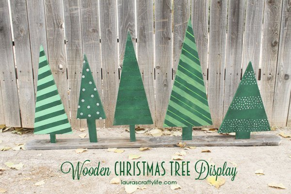 Wooden Christmas Tree Display with Ryobi Tools