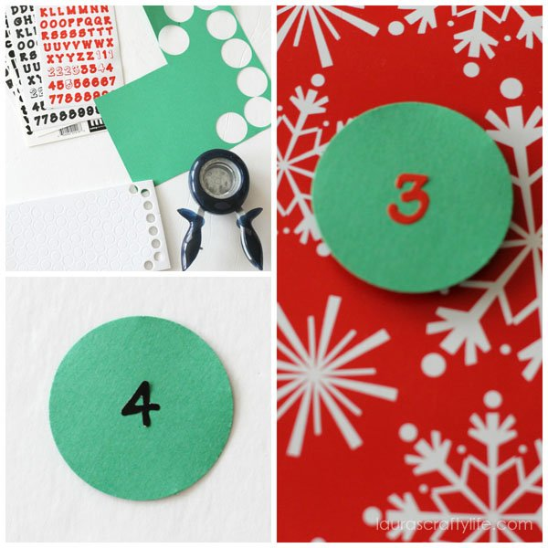 Create tags for Christmas book countdown