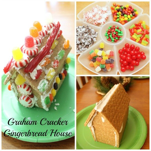 Easily create a gingerbread house from graham crackers - Laura's Crafty Life