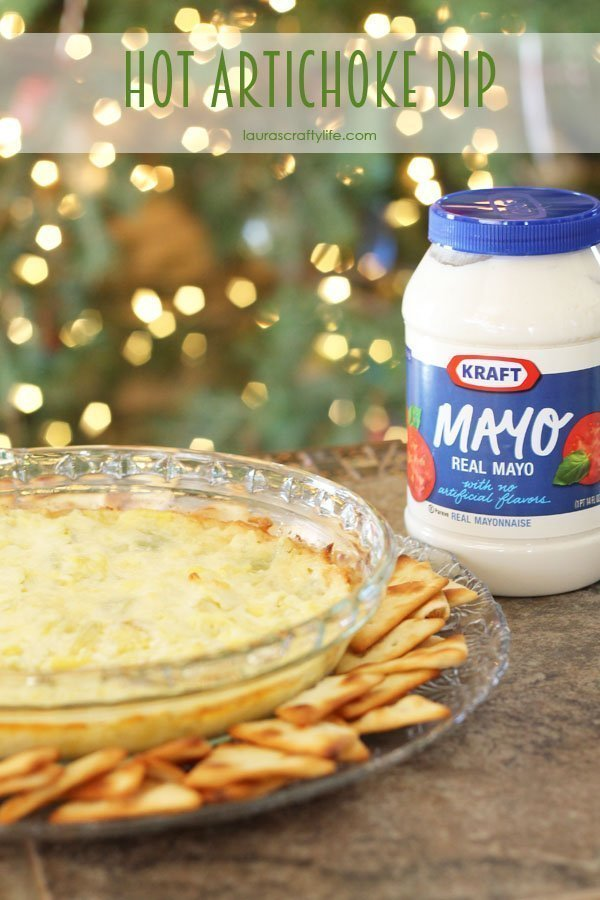 Hot Artichoke Dip - Laura's Crafty Life #MustHaveMayo #CollectiveBias